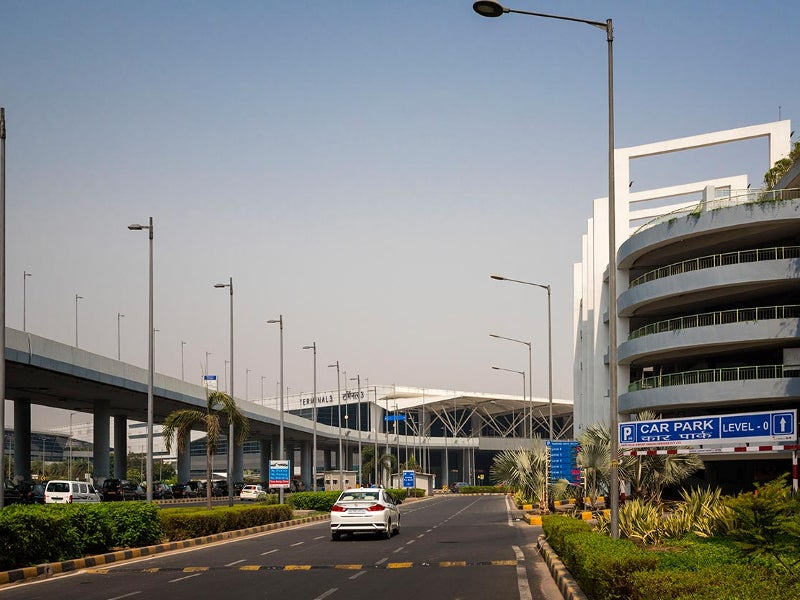 The seven-level automated parking management and guidance system accommodates 4,300 cars. Image courtesy of Delhi International Airport Limited.