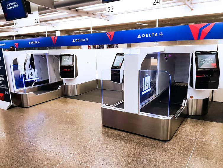 Delta Air Lines bag drop units