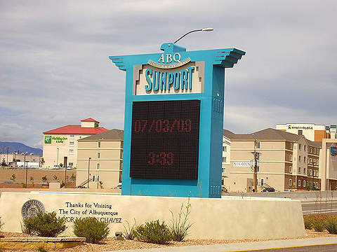 Albuquerque International Sunport handled 5.79 million passengers and recorded 156,505 aircraft operations in 2010.
