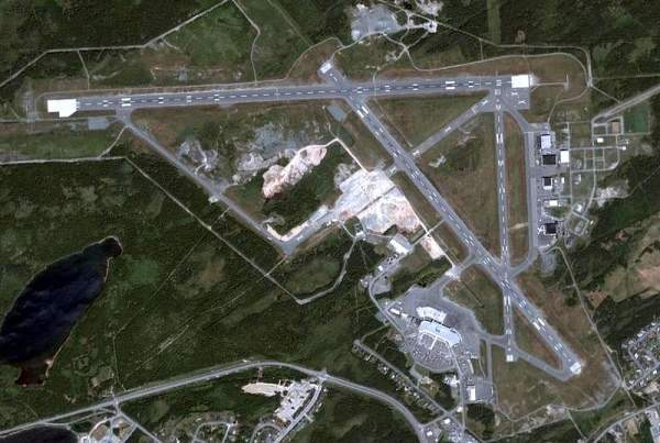 Aerial view of the airport. Image courtesy of Nasa.