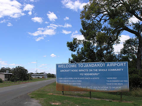 Jandakot airport is located 18km south of Perth in Western Australia.