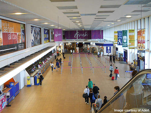 The Glasgow Prestwick Airport handled 1.8 million passengers in the year 2009.