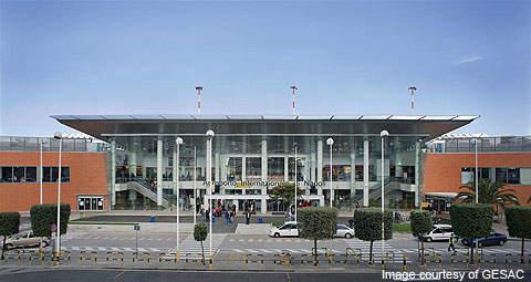 Capodichino International Airport handles about five million passengers a year.
