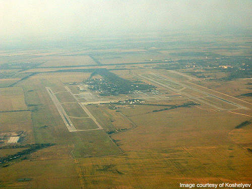Aerial view of Boryspil International Airport.