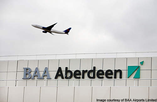 The Aberdeen airport is owned and operated by BAA.