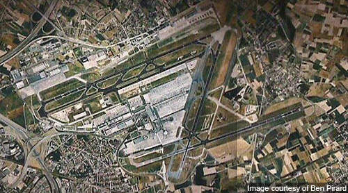Aerial view of Brussels International Airport