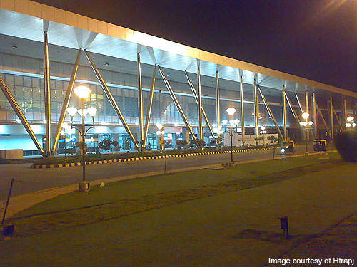 Sardar International airport serves the cities of Ahmedabad and Gandhinagar. Credit: Htrapj.