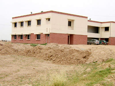 The partially completed administration block for Sialkot International Airport.
