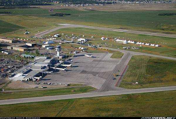 Saskatoon John G. Diefenbaker International Airport is located 5.6km north-west of Saskatoon, Canada. Image courtesy of YouReadMyMind.