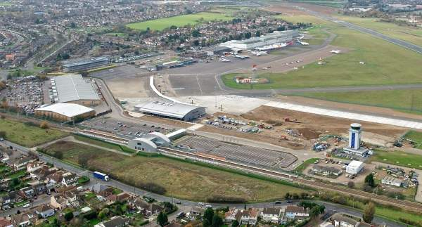 Aerial view of the London Southend Airport. Image courtesy of Brera London, PR agency for London Southend Airport.