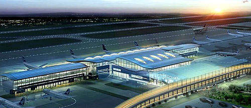 Rajiv Gandhi International Airport is strategically located in India to become a major domestic and international hub.