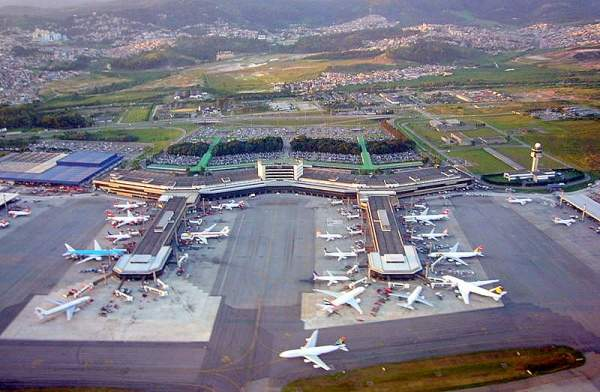 São Paulo-Guarulhos International Airport, formerly known as Cumbica Airport, is one of the largest airports in Brazil. Image courtesy of Andomenda.
