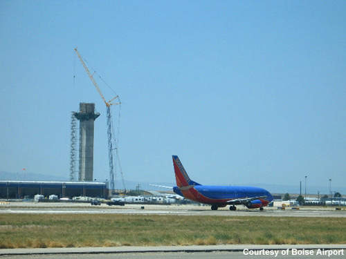 The new air traffic control tower at Boise Airport.