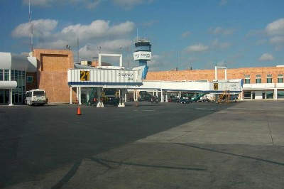 Cancun International Airport's older terminal has just one building.