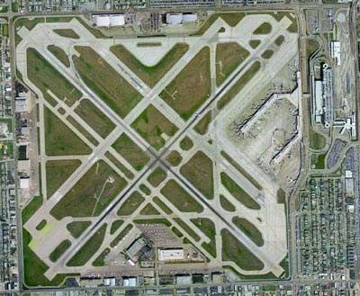 The runway layout at Chicago Midway Airport.