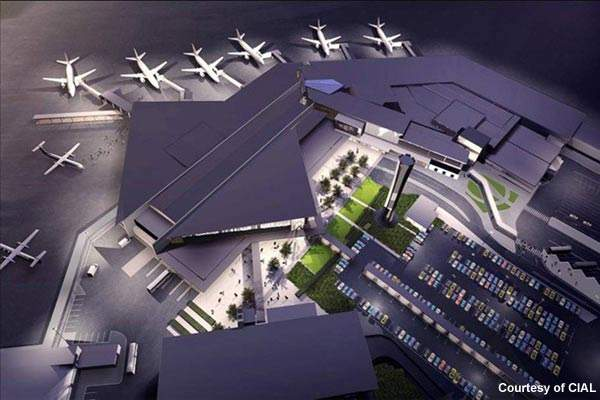 Artist's impression of the terminal development programme.