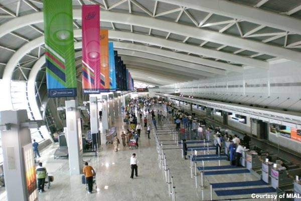 The departures area in terminal 1-B of Chhatrapati Shivaji International Airport.
