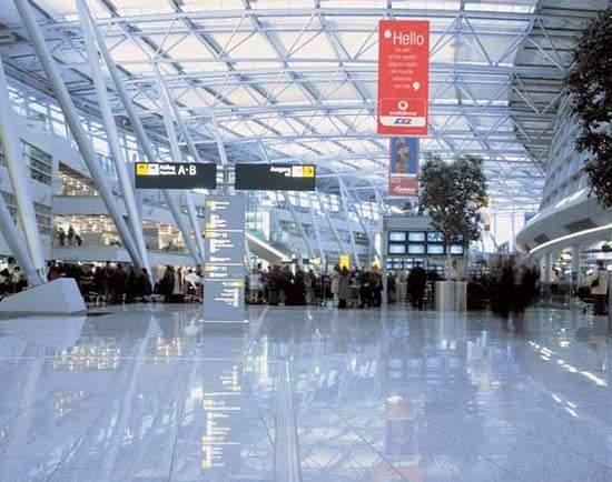 The new terminal building at Düsseldorf International Airport.