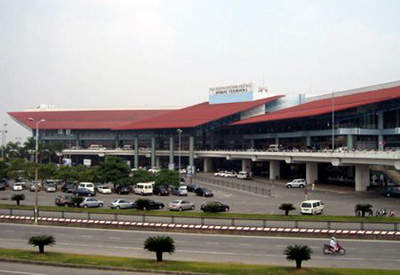 The existing international terminal one at Noi Bai International Airport.