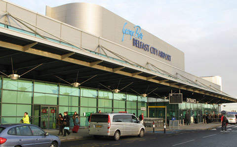 The Belfast City Airport terminal building opened in summer 2001.