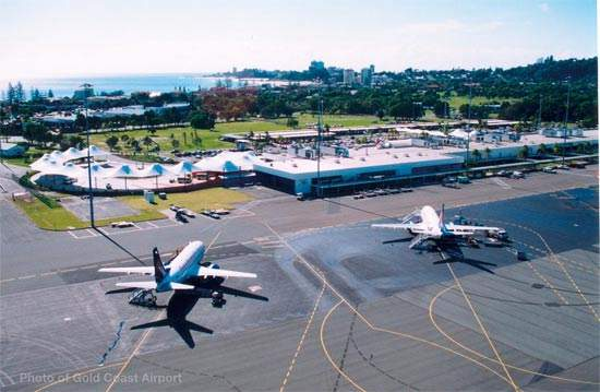 Gold Coast Airport, a wholly owned subsidiary of Queensland Airports Ltd, serves the tourist-focused Gold Coast near Coolangatta on the eastern coast of Australia.