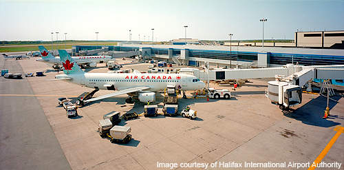 Halifax Stanfield International Airport is the seventh busiest airport in Canada.