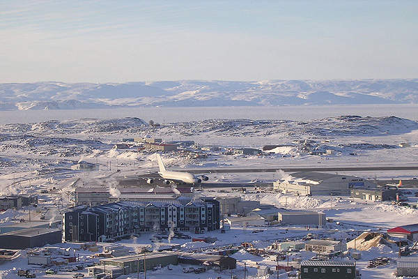 Iqaluit international airport has been witnessing consistent passenger growth since 2002. Image courtesy of Northern Pix.
