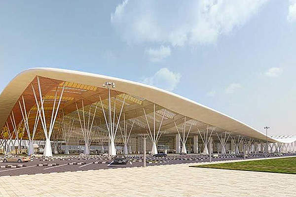 The expanded terminal covers an area of 1.5 million square feet.