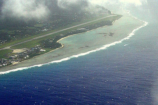 Rarotonga Airport, the main airport in Cook the Islands, serves about 100,000 passengers annually.