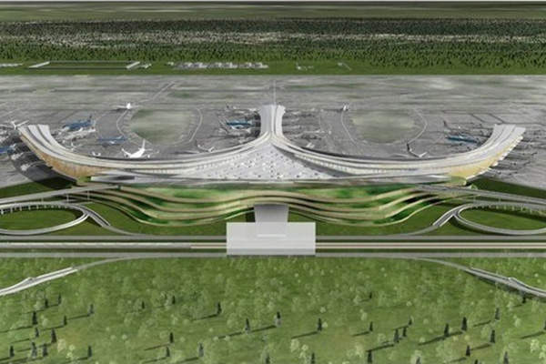 An artist's rendition of the Long Thanh International Airport. Image courtesy of Hungthuan Group.