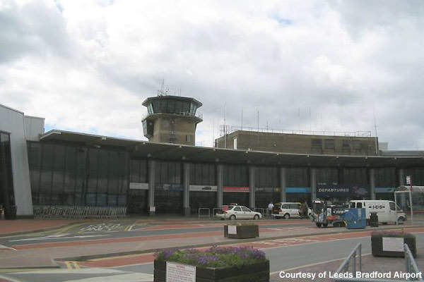 The old Leeds Bradford terminal with its crescent shape.