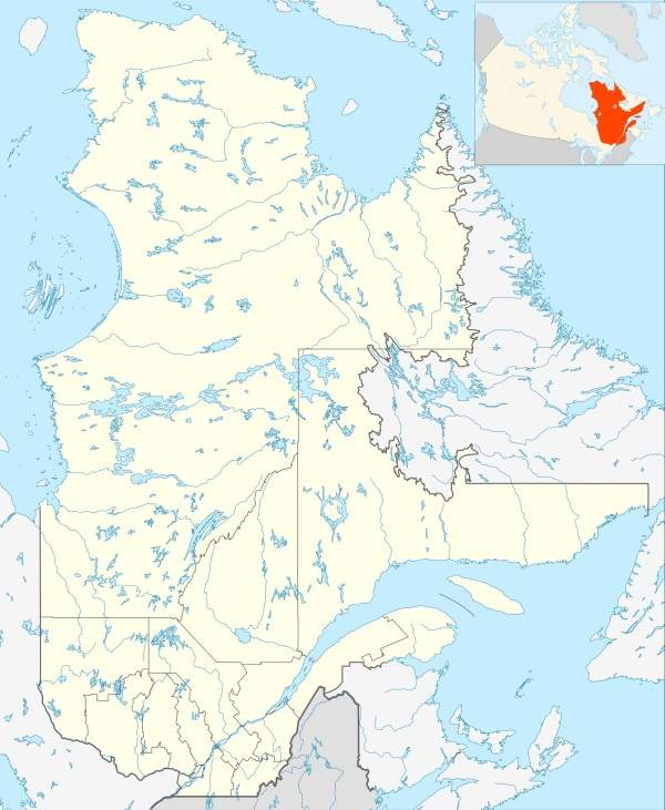 Québec City Jean Lesage International Airport is located 11km from Québec city in Canada. Image courtesy of Hanhil.