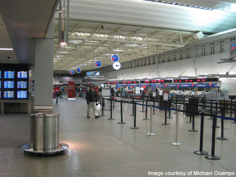 The departure area at Minneapolis-St Paul International Airport.