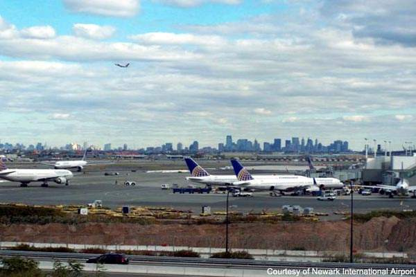Newark Liberty Airport is only 14 miles from mid-town Manhattan.
