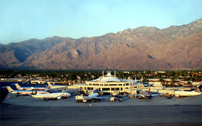 The terminal at Palm Springs International Airport after the first phase expansion.