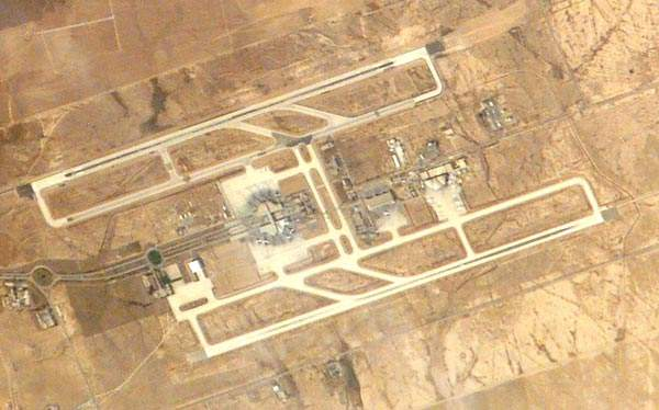 Queen Alia international airport seen from the sky.