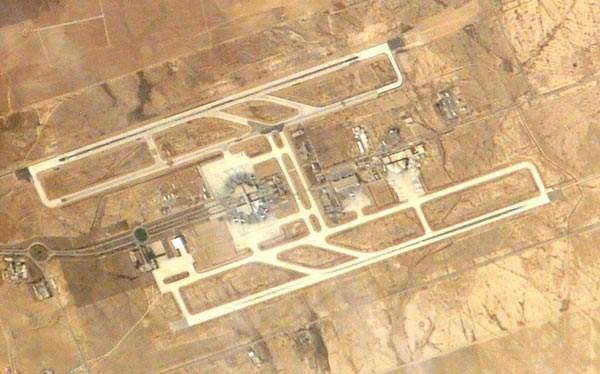Queen Alia international airport seen from the sky.