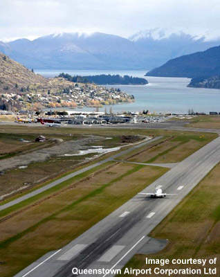 The Queenstown runway aprons have had improvements for international flights.