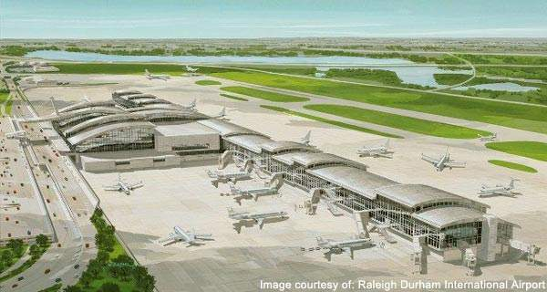 The first and second phases of Raleigh-Durham International were completed by January 2011.