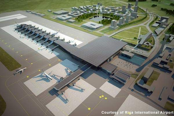 Riga's new terminal extension will provide new gates and will be integrated into the existing buildings.