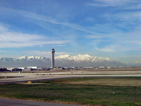 Salt Lake City International Airport (SLCIAP) is situated west of Salt Lake City, about ten minutes from the downtown area.