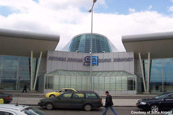 The new front entrance of Sofia Airport.