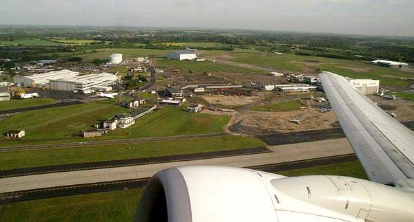 Earlier Stansted Airport development was on the north side of runway 05/23.