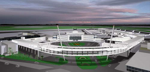 The integration of the new development with the original Dublin Airport terminal is very important. The investment into the new terminal is $395m (£265m), and work began in mid-2007 with construction set to be complete within three years.