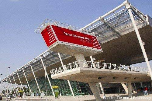 The new Tirana International Airport terminal is modern, spacious and of excellent design.