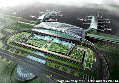 The new Wuhan Tianhe International T2 has been designed to handle 13 million passengers a year.