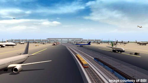 Berlin-Brandenburg Airport will have excellent integrated transport facilities with a railway station under the terminal building.