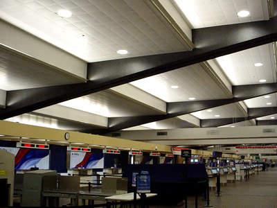 The terminal refurbishment – check-in desks.