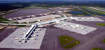 Southwest Florida's midfield terminal complex from the air.