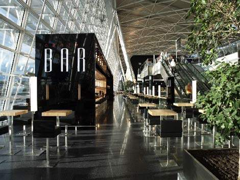 Zurich Airport's airside centre with a piano bar.